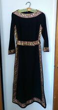 VTG* 60's R&K Knits dress* long tunic* paisley* Metallic* mod*medieval*size 6/8*
