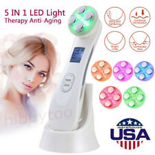 Skin Tightening RF LED Light Photon Therapy Facial Beauty Machine Anti-aging US
