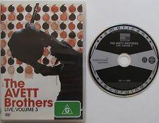THE AVETT BROTHERS LIVE, VOLUME 3....ALL REGION NTSC DVD