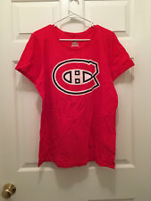 NWT Montreal Canadiens Women's NHL Brand Fitted Red Classic Logo T-Shirt 2XL