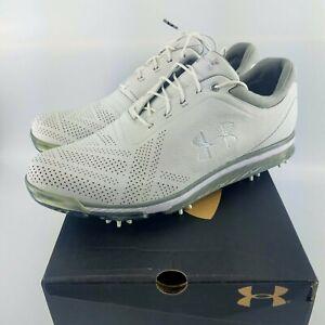 Under Armour Tempo Tour Golf Spikes - White/Silver/Grey - 1270205-101 - Sz: 7-13