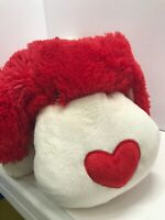 """Pillow Pets Luv Pup Animals Plush Red Valentine Hearts Puppy Dog 18"""" Large Big"""
