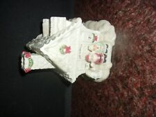 Lenox China Music Box Greetings From The North Pole Christmas Mr & Mrs Claus