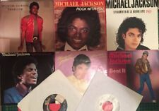 Michael Jackson LOT 8x45s Promo Italy Australia Holland Vinyl Rock With You Bad+