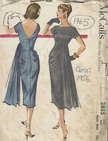 1956 Vintage Sewing Pattern B34 DRESS (1765)