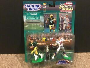 STARTING LINEUP CLASSIC DOUBLES SUPER BOWL NFL SERIES BRETT FAVRE-BLEDSOE-HI-END