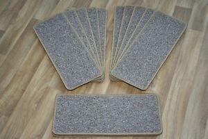 14 plane  Open Plan Carpet Stair Treads Large Pads beige. (street)