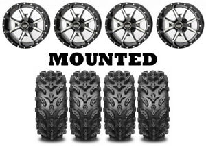 Kit 4 Interco Swamp Lite Tires 27x9-14/27x11-14 on Frontline 556 Machined IRS