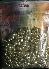 """Tandy Leather - Round Spots - 1/2"""" Brass Plated - 1000 pack 1330-84"""