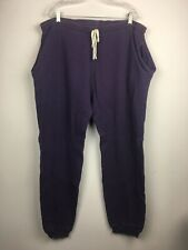 Vtg LL Bean Long Johns Mens Sz L Tall  Purple Thermal Bottom Pants Pockets USA