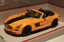 """AllStars"" Mercedes SLS AMG Roadster orange 1:24 Maisto neu + OVP 531370"