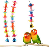Colorful Pet Bird Parrot Parakeet Budgie Cockatiel Cage Bell Hanging Chew Toys