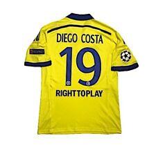 Men adidas Chelsea Away 2014 #19 DIEGO COSTA Camisa Maillot Soccer Football