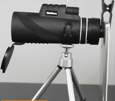 40X60 Monocular Telescope HD Night Vision Prism Scope With Phone Clip Tripod AU