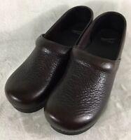 Dansko Women's Clogs Brown Pebbled Leather Shoes Size US 12.5-13 / EUR 46
