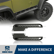 Black Side Step Armor Textured Running Board Nerf Bar for 97-06 Jeep Wrangler TJ