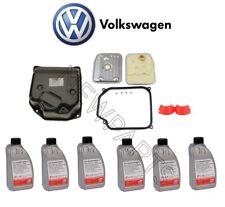 VW Beetle Jetta AT Transmission Oil Pan & Filter Kit Fluid Filler Cap GENUINE