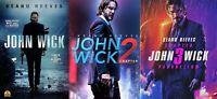 John Wick 1-3 (1 2 3) DVD Trilogy - 3 DVD Set - New! - Free Ship - Keanu Reeves!