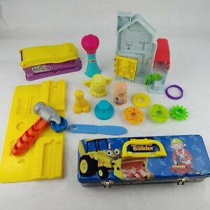 12 pc Play Doh Bob The Builder Play Set/Tin Tool Box/Fun Factory Parts 1998/2002