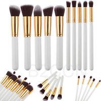 10Pcs Professional Cosmetic Makeup Brushes Set Eyeshadow Blush Make Up Tools Kit