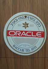 Rare Israel Maccabi Tel Aviv Vip Tag Coaster Mat 2011/12 Basketball Euroleague