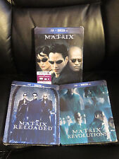 The Matrix Trilogy Blu-Ray Steelbook 3 Pack Revolutions Reloaded Sealed *READ*