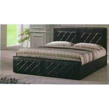 Hodedah Hi820 Full Black Panel Leather Bed