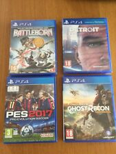 Lot 4 jeux PS4 Battleborn Gost recon Detroit PES2017
