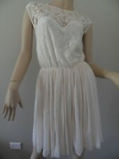 ASOS cream lace sweetheart neckline cocktail dress size UK10 NWOT