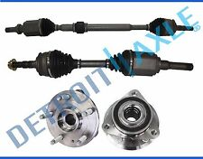 2 Front Left and Right CV Axle Shaft + 2 Wheel Bearing and Hub Assembly 5 lug