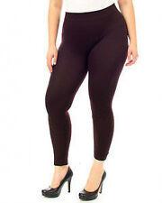 Fashion Leggings~Plus Size~NIP~Expresso Coffee Black~Footless ~ 1X/2X
