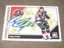 BOBBY RYAN AUTOGRAPHED 2007-2008 ITG HEROES AND PROSPECTS CARD