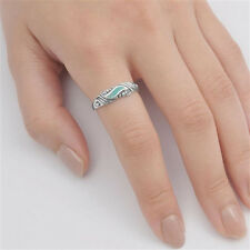 USA Seller Stabilized Turquoise Ring Sterling Silver 925 Best Jewelry Size 4