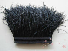 Ostrich Feather Dress Frill Trim Sewing Accessories Selvage Material DIY 50cm