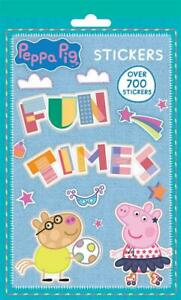 Over 700 Peppa Pig Kids Sticker Book Reusable Stickers Creative Fun Activity New