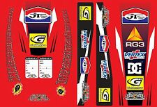 UNIVERSAL HONDA BETA GASGAS STICKERKIT KIT SWINGARM MUD GUARD CR JT MX LAMINATED