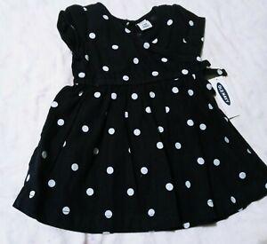 Old Navy. NWT  3-6M. Blue polka dot baby girg dress Very Cute