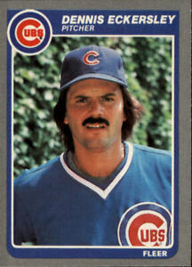 1985 Fleer Baseball Card #57 Dennis Eckersley