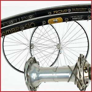 AMBROSIO EXCELLENCE CAMPAGNOLO RECORD 9 10 11 SPEED WHEELSET WHEELS CLINCHER