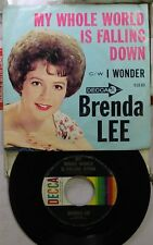 Rock Picture Sleeve 45 Brenda Lee - My Whole World Is Falling Down / I Wonder On