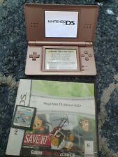 Nintendo DS Lite Metallic Rose Pink Handheld Console + MEGA MAN ZX ADVENT Game