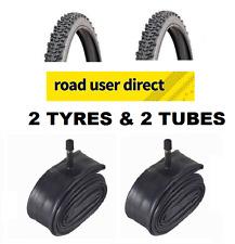 2 x Raider BMX 20 x 1.95 Tyres & 2 x Inner Tubes Schrader Valves - Free Delivery