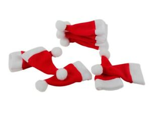 Weihnachten Neuheit Set Klein Weihnachtsmannmütze Tisch Dekoration 8cmx3cm