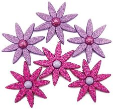 Jesse James Dress it Up Buttons Glitter Garden Splendor #5091 Flat Rate Shipping