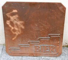 Stiegl Bier - Seltene Gastgartendekoration Kupfer-Schild Werbung Reklame (A1)