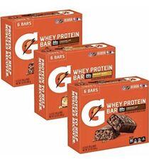 3 box lot Gatorade Whey Protein Bars CHOCOLATE CARAMEL 2.8 Oz 12/box exp Jul 21