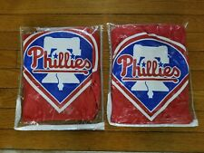 "Sports Coverage MLB Philadelphia Phillies set of 2 Window Valances 88"" x 14"""