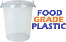 Large 70 Litre CLEAR / TRANSPARENT Plastic Bin Kitchen Food Storage Container