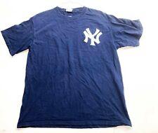 New York Yankees MLB Majestic T-Shirt Blue Size Large Sabathia #52