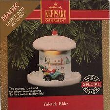 Vintage 1992 Yuletide Rider Christmas Hallmark Ornament Magic Light Motion